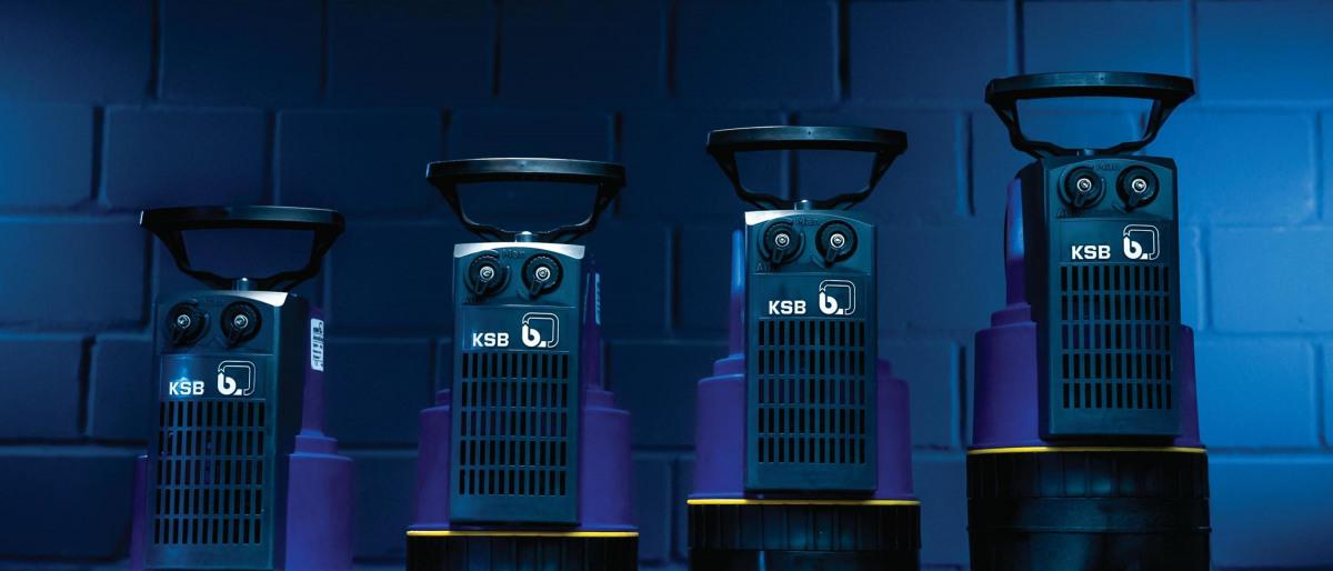 Vier neue KSB Ama-Drainer 3 Tauchmotorpumpen