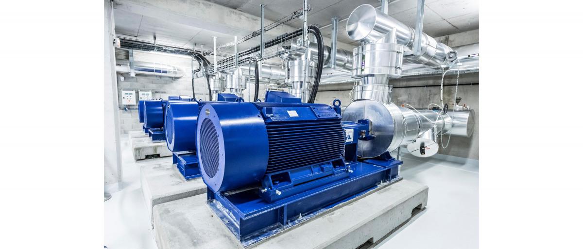 Acht Chemienormpumpen vom Typ MegaCPK mit Motorleistungen zwischen 160 und 355 kW