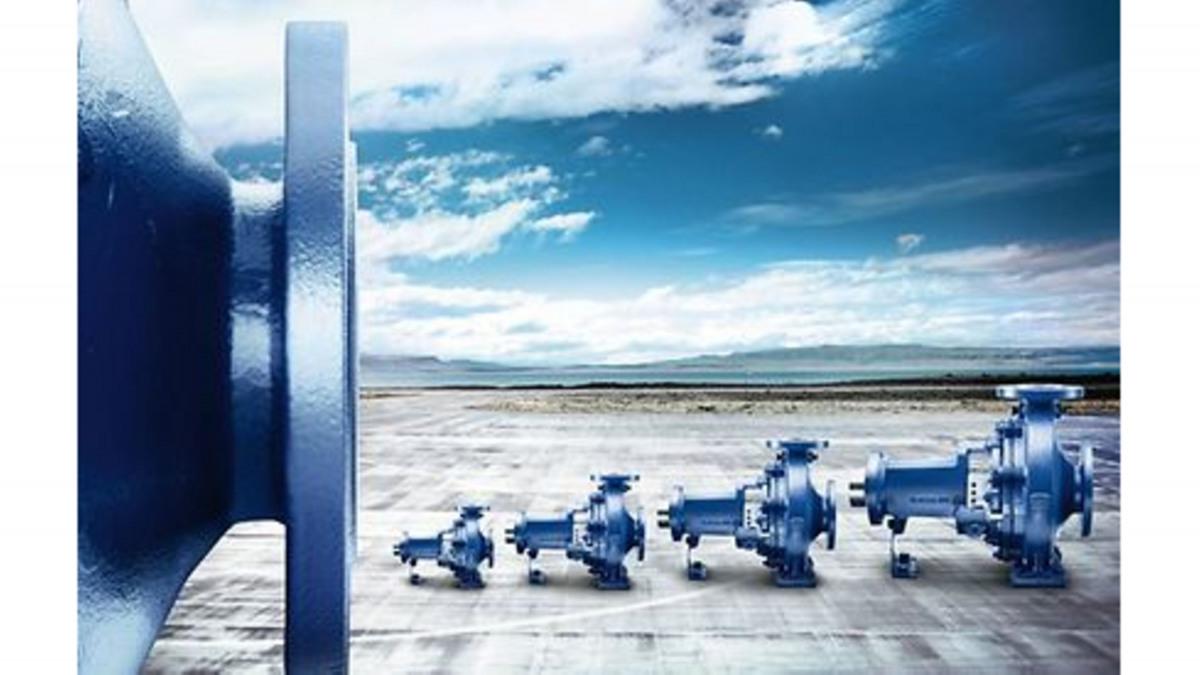 Die Etanorm Pumpe der KSB wird in der Wasser- und Abwassertechnik eingesetzt.