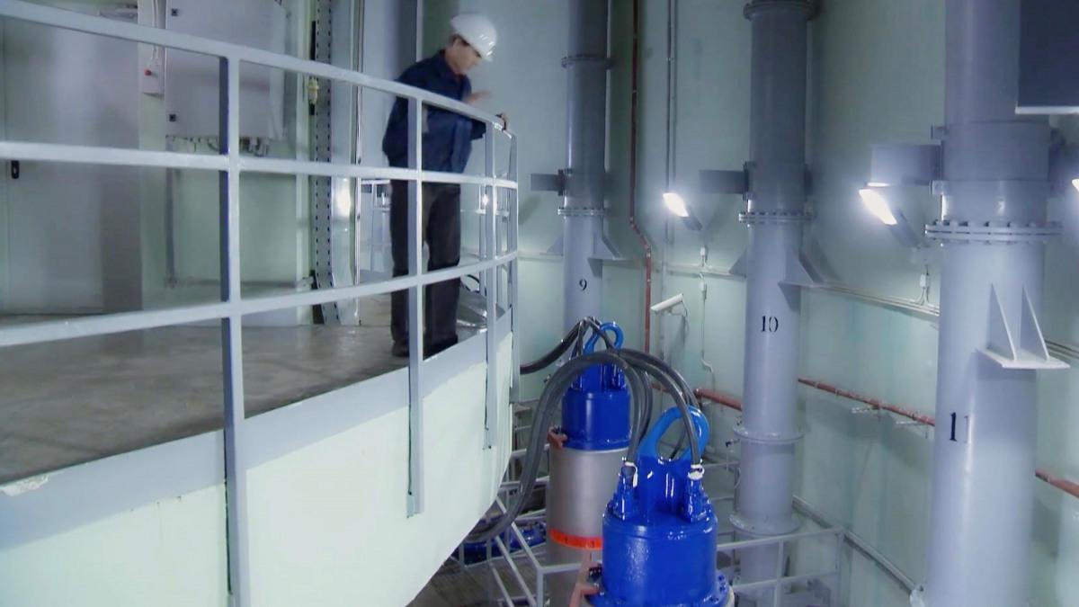 Pumpen zur Abwasserentsorgung.