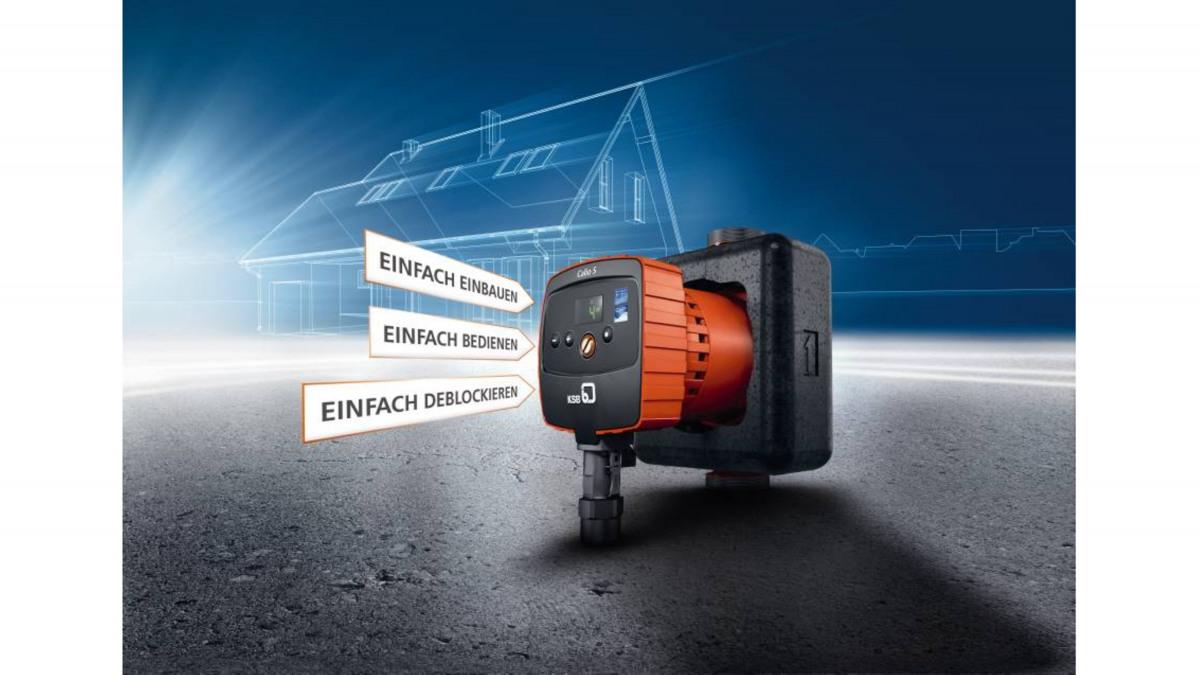 Die Pumpe Calio S kommt in der Gebäudetechnik zum Einsatz.