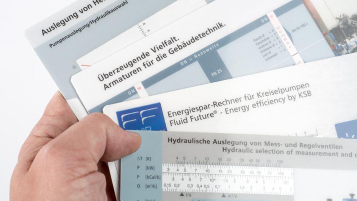 KSB Rechner, Schieber und Know-how Broschüren bestellen