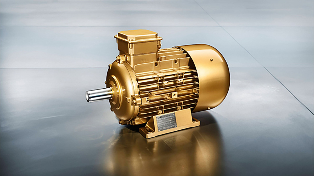 Goldener KSB Supreme Effizienz Motor