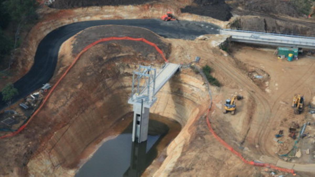 WaterPlan 2050; Mardi-Staudamm; Speicherung abseits des Flusses; Hebewerk; RDLO-Pumpen; Pumpwerk; Armaturen; Rohrleitungen