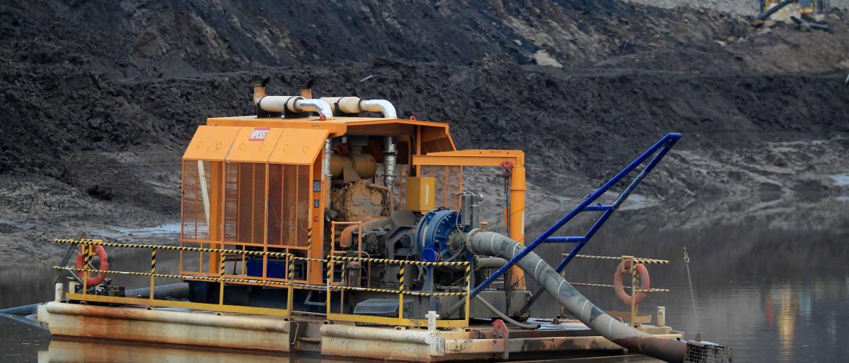 KSB-Pumpen für die Wasserhaltung und die Prozesswasserförderung bieten höchste Effizienz im Bergbau.