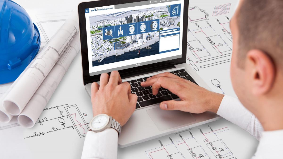 Auge, das über eine Großstadt schaut