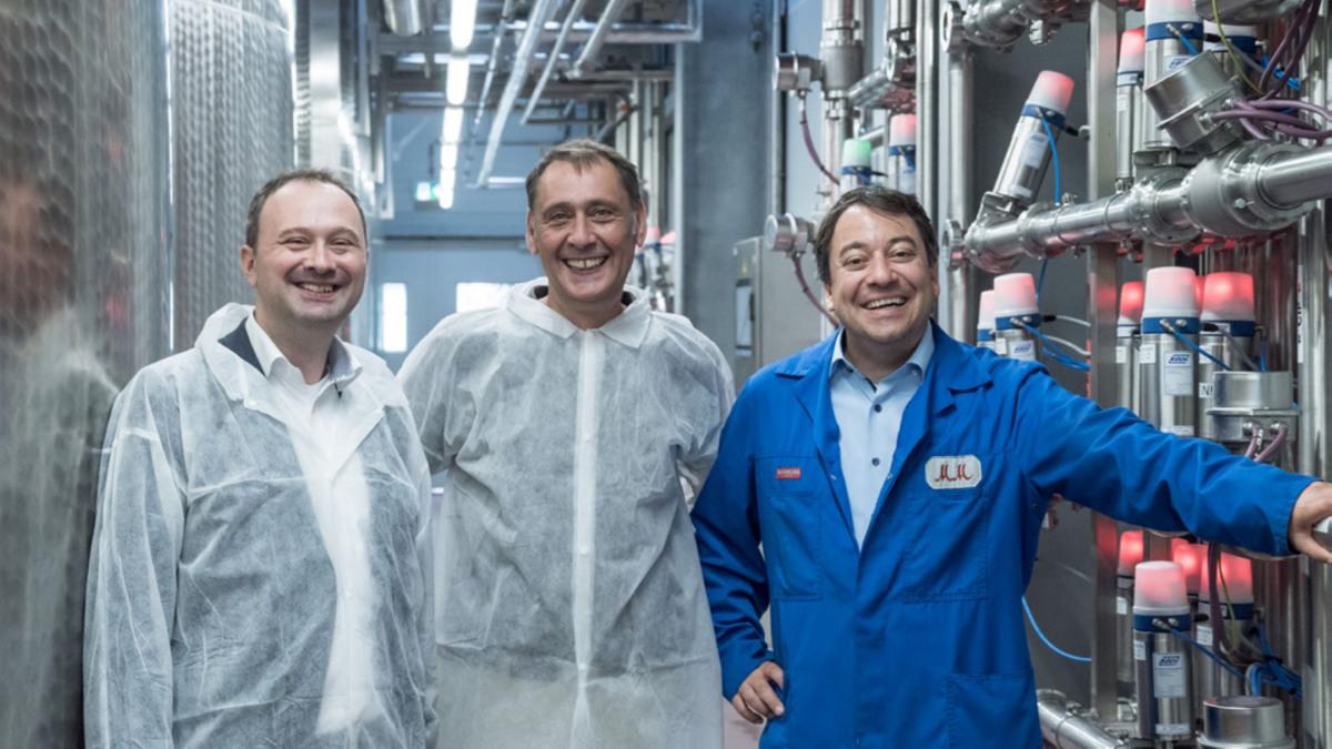 Erfolgreiche Teamarbeit: Markus Regneri (KSB), Wolfgang Martin (ISW) und Joachim Engler (Rotkäppchen-Mumm)