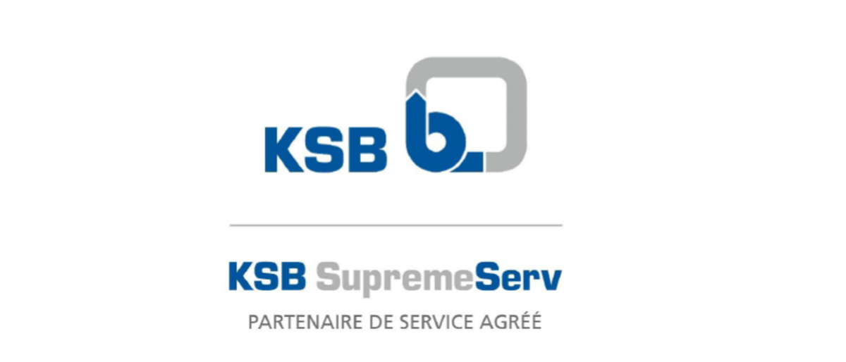 Drapeau avec branding des partenaires de service agréés KSB