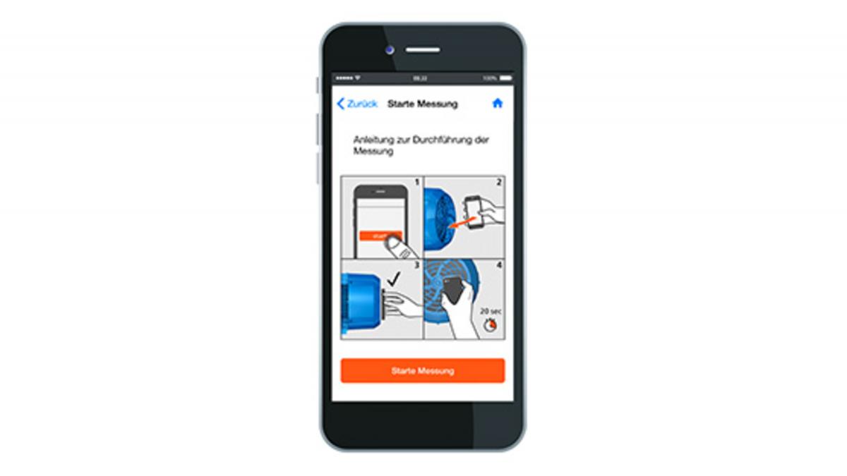 Smartphone med appen KSB Sonolyzer®