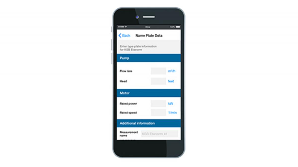 Pametni telefon z aplikacijo KSB Sonolyzer®
