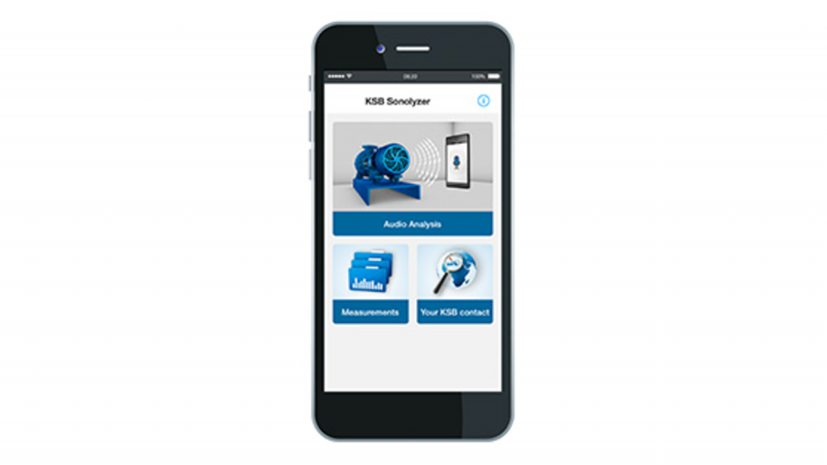 Smartphone avec application KSB Sonolyzer®