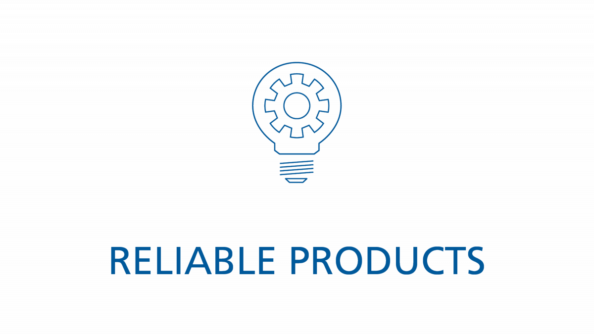 Reliable products