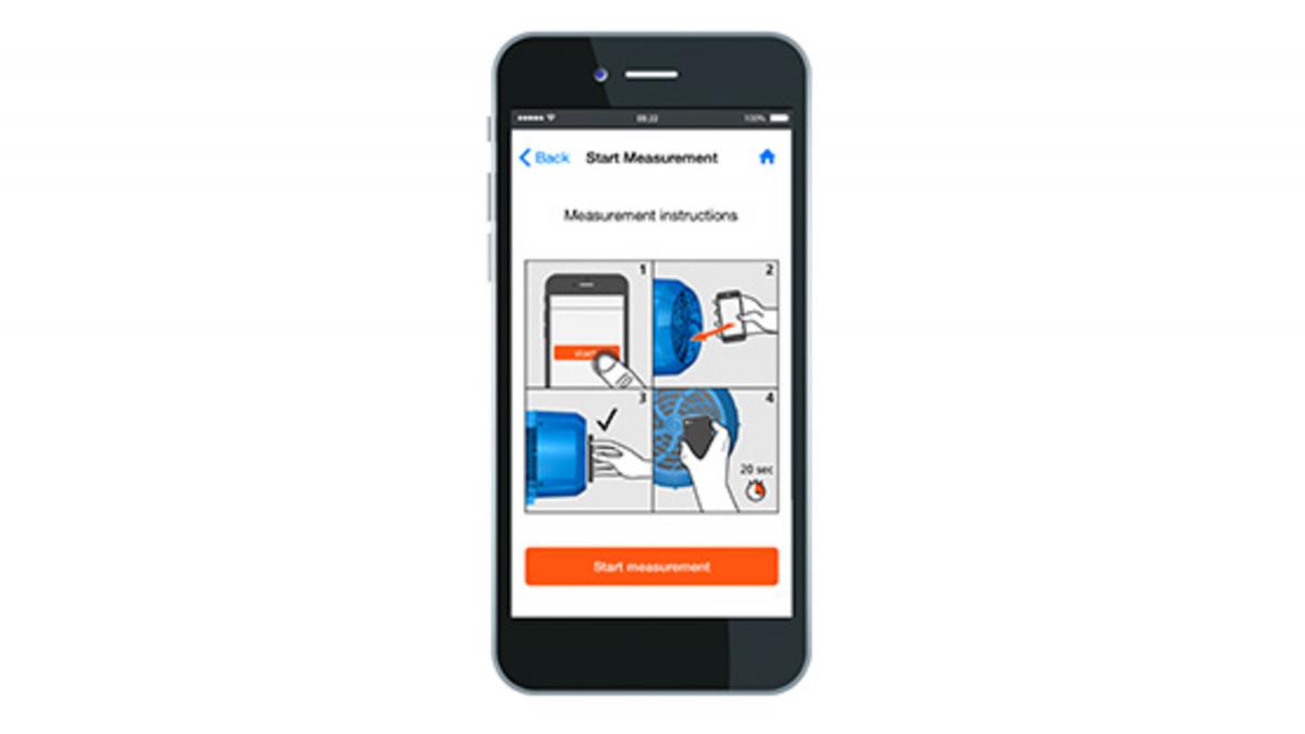Smartphone with KSB Sonolyzer® app