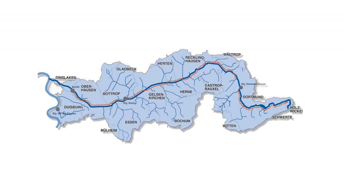 Emscher waste water sewer, Emscher canal