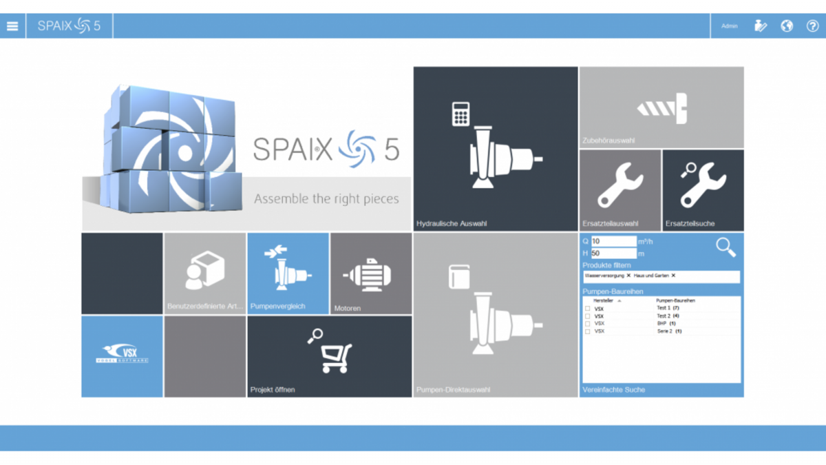 Icons for SPAIX Pump Selection